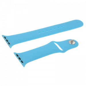 Apple Silicone Watch Strap 42mm-Light Blue