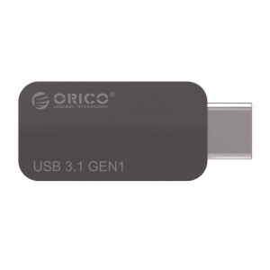 Orico CTA2-SV Aluminum USB TYPE C USB 3.0 OTG USB Adapter C 3.1 to USB 3.0 Data Transfer-Silver / Gray