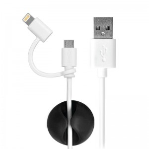 Port Designs 900051 CABLE 2IN1 LIGHTNING + MICRO USB 1.2M