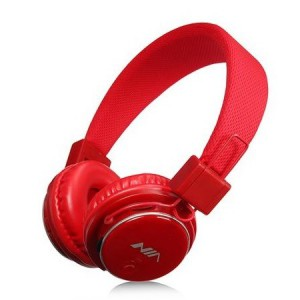 NIA NIAQ8-RED Wireless Bluetooth Stereo Headphones - Red