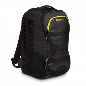 "Targus TSB944EU  Work + Play Fitness 15.6"" Laptop Backpack - Black/Yellow"