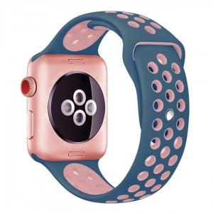 Apple Multi-colour Silicone Watch Strap 42mm-Purple Pink