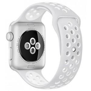 Apple Multi-colour Silicone Watch Strap 38mm-Grey White