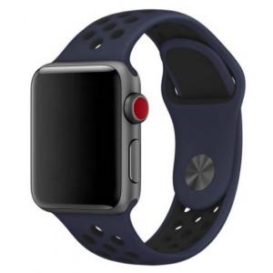 Apple Multi-colour Silicone Watch Strap 38mm-Blue Black