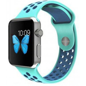 Apple Multi-colour Silicone Watch Strap 42mm-Turquoise Blue