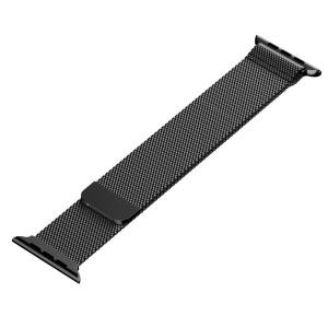 Apple Stainless Steel Magnetic Milanese Loop Watch Strap 42mm-Black