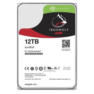 Seagate ST12000VN0007 12TB IronWolf NAS SATA 6Gb/s NCQ 256MB Cache 3.5-Inch Internal Hard Drive