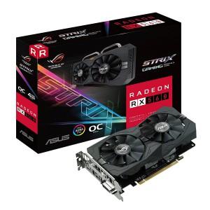Asus ROG-STRIX-RX560-O4G-EVO-GAMING Gaming OC Edition GDDR5 DP HDMI DVI AMD Graphics Card