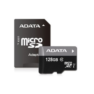 Adata AUSDX128GUICL10  Premier 128GB microSDXC Class10 Memory Card with Adapter