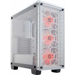 Corsair Crystal 460X RGB White CC-9011129-WW White Steel / Tempered Glass ATX Mid Tower Computer Case