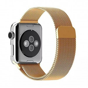 Apple Stainless Steel Magnetic Milanese Loop Watch Strap 42mm-Gold
