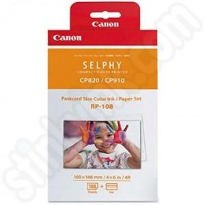 Canon 8568B001AA RP-108IP Postcard Ink & Paper Set