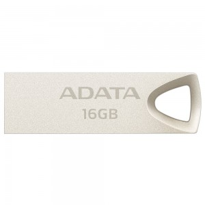 Adata AUV210-16G-RGD 16GB Metallic Style Capless Water Resistant Dust Resistant Impact Resistant USB Flash Drive, Gold