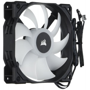 Corsair CO-9050059 WW SP Series, SP120 RGB LED, 120mm High Performance RGB LED single fan, no controller