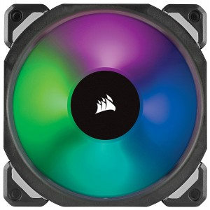 Corsair CO-9050076 ML120 PRO 120mm Premium Magnetic Levitation RGB LED PWM Fan with Lighting Node
