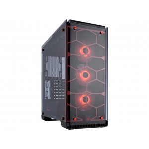 Corsair CC-9011111 Crystal Series 570X RGB - Tempered Glass Premium ATX Mid-Tower Case Red Cases