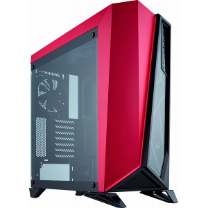 Corsair CC-9011120-??  Carbide Series SPEC-OMEGA Mid-Tower Tempered Glass Gaming Case Black/Red