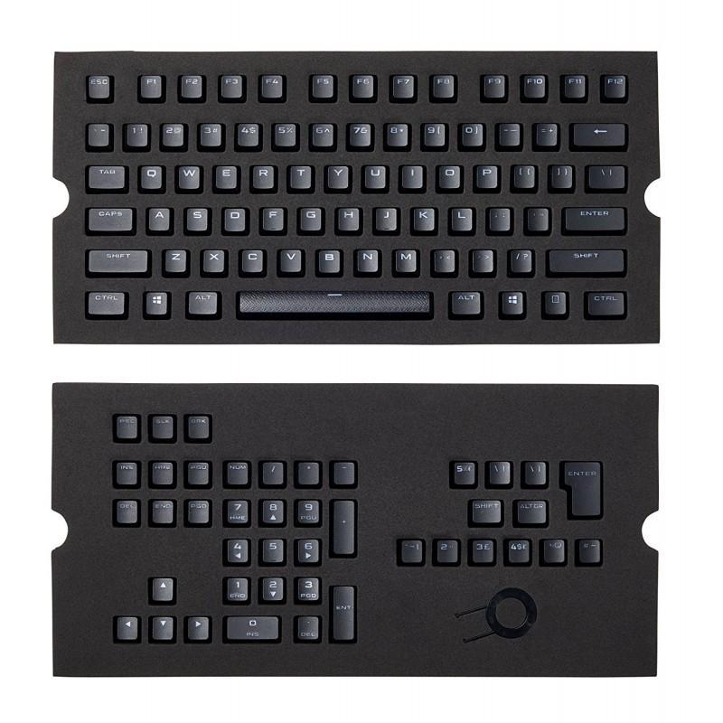 Corsair CH-9000235-WW  PBT Double-Shot Keycaps Full 104/105-Keyset - Black