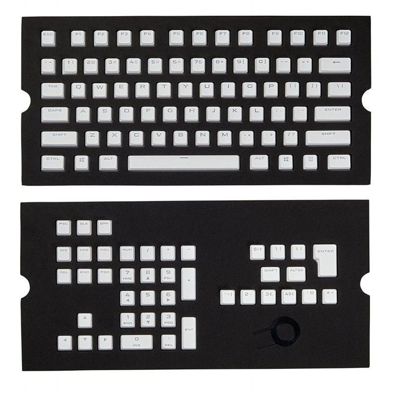 Corsair CH-9000234-WW  Gaming PBT Double-shot Keycaps Full 104/105-Keyset - White