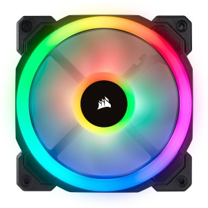 Corsair  CO-9050072 LL120 RGB, 120mm Dual Light Loop RGB LED PWM Fan, 3 Fan Pack with Lighting Node PRO