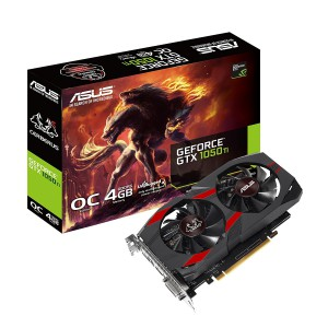 ASUS CERBERUS-GTX1050TI-O4G   Cerberus GeForce GTX 1050 Ti 4GB OC Edition GDDR5 Gaming Graphics Card