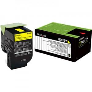 Lexmark 80C8SYE Yellow Laser  Toner Cartridge