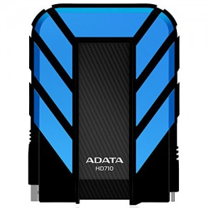 Adata AHD710-1TU3?CBL Dash Drive Durable HD710 Portable External Hard Drive, Blue, 1TB