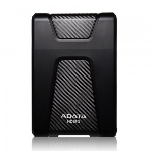 Adata AHD650-2TU3?CBK 2TB Durable Shock Resistant External Hard Drive, Black