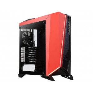 Corsair CC-9011120 Carbide Series SPEC-OMEGA Mid-Tower Tempered Glass Gaming Case Black/Red