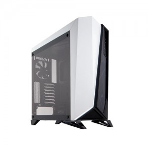 Corsair CC-9011119 Carbide Series SPEC-OMEGA Mid-Tower Tempered Glass Gaming Case, Black and White