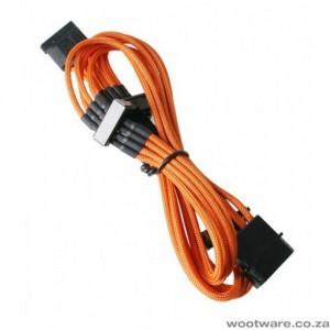 BitFenix BFA-MSC-M4SA20OK Alchemy Orange Multisleeved(4) Cable - 20cm - 1x 4Pin Molex to 4x SATA Power Cable