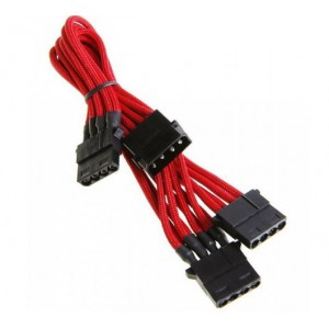 BitFenix BFA-MSC-M3MRKK Alchemy Red Molex to 3x Molex Extension Cable