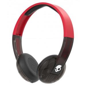 Skullcandy  S5URJW-556 Uproar Wireless Over Ear Headset with Mic Red Black Chrome