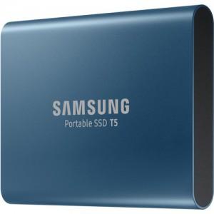 SAMSUNG MU-PA250B 250GB T5 Portable Solid-State Drive (Blue)