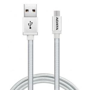 Adata AD-MICROUSBCSV  Micro USB 100 cm Reversible Silver Aluminium  Cable