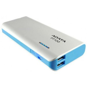 Adata AD-PBT100WH-10000MAH 10000 mAh Powerbank With 4 Mode LED Flash Light