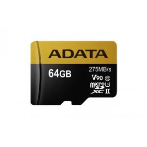 Adata USDX64GUII3CL10 64GB MicroSDXC UHS-II Class 10 Memory Card