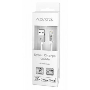 Adata AD-APPLE100CSV  Lightning to USB Cable 100cm Aluminium Silver