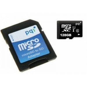PQI PQI128GMSDU10 128 GB Micro SDXC Class 10 Memory Card