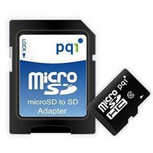PQI PQI16GMSDU10  16GB Micro SDHC Class 10 UHS 1 Memory Card