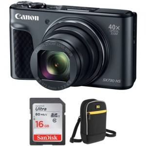 Canon POWERSHOT SX730HS BLACK Digital Camera with Free Accessory Kit (Black)