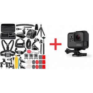 GoPro HERO 6 Black Full HD Action Camera Plus 50 in 1 Accessory Kit COMBO DEAL