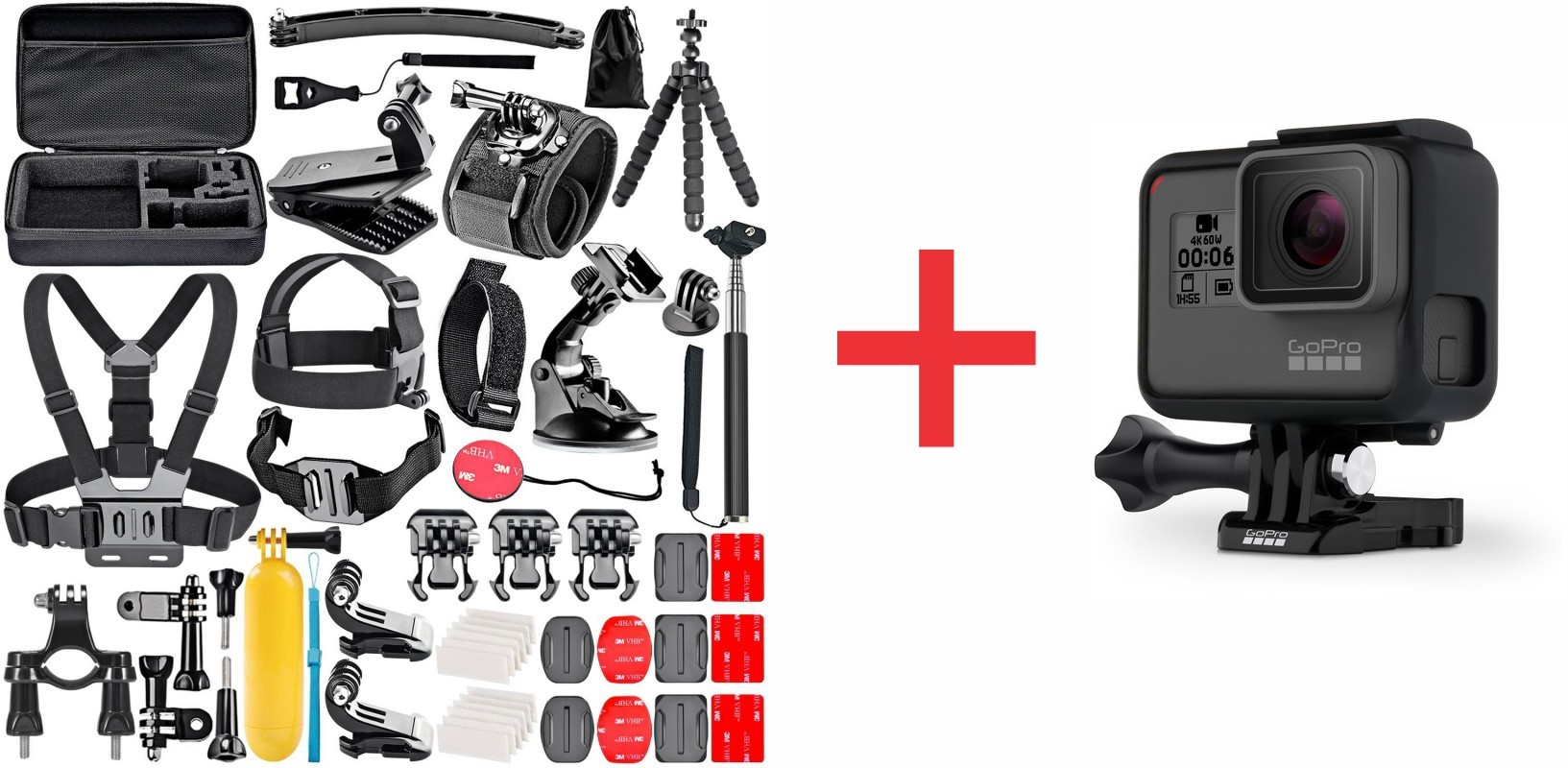 Gopro Hero 6 Black Full Hd Action Camera Plus 50 In 1 Accessory Kit Combo Deal Geewiz