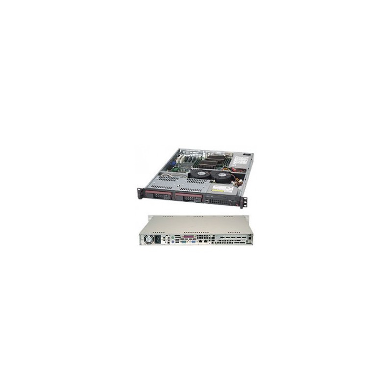 Supermicro CSE-811TQ-350B 350 Watt 1U Rackmount Server Chassis, Black