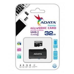 Adata AD-MCMSDOTGHC103-32GB  32GB Micro SDHC C10 UHS-I +USB OTG Micro Reader