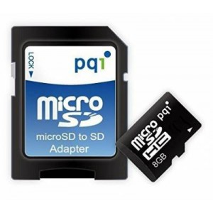 PQI PQI8GMSDC4 8GB Micro SDHC Card Class 4