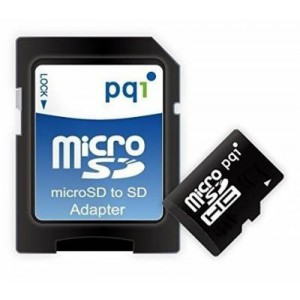 PQI PQI16GMSDC4 16GB Micro SDHC Card,Class 4