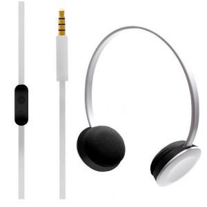 Hoomia U2NY WHITE Headphone with Microphone White with 3.5mm jack Plug