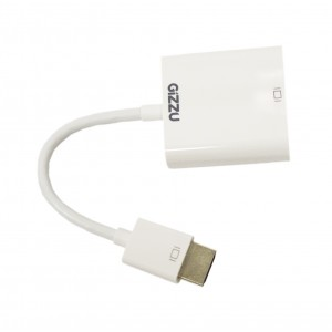 Gizzu HDMI to VGA & Stereo Audio Adapter White(GAHDMIVGAW)