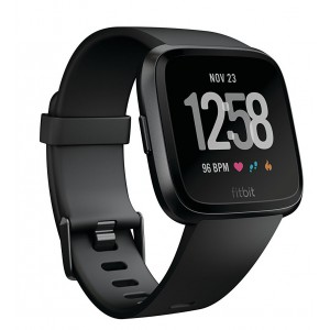 Fitbit Versa Smartwatch - Black (with Small and Large Bands)